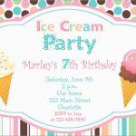 Luxury Ice Cream Social Invitation Template Free | Best Of Template   Ice Cream Party Invitations Printable Free