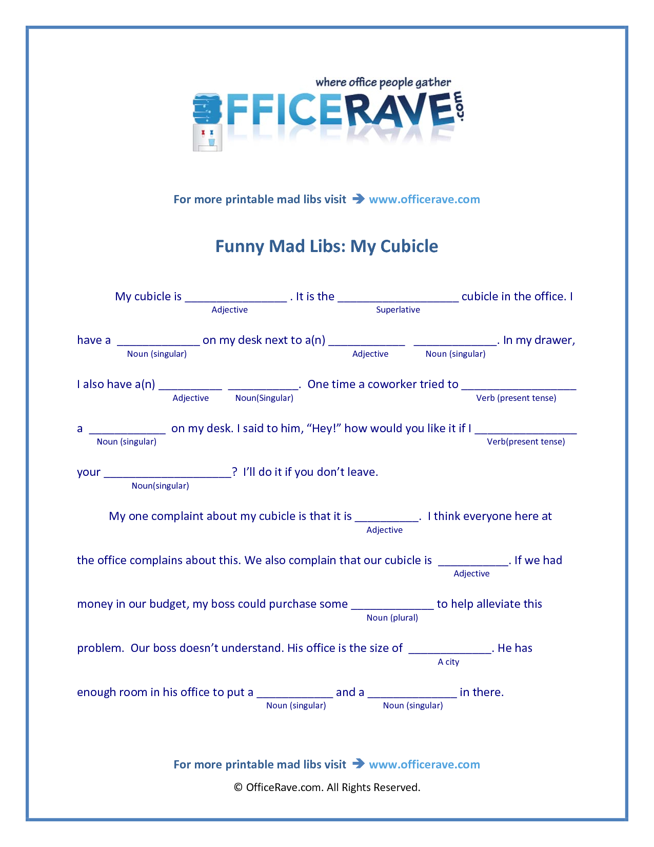 It is a picture of Enterprising Mad Libs Printable Middle School