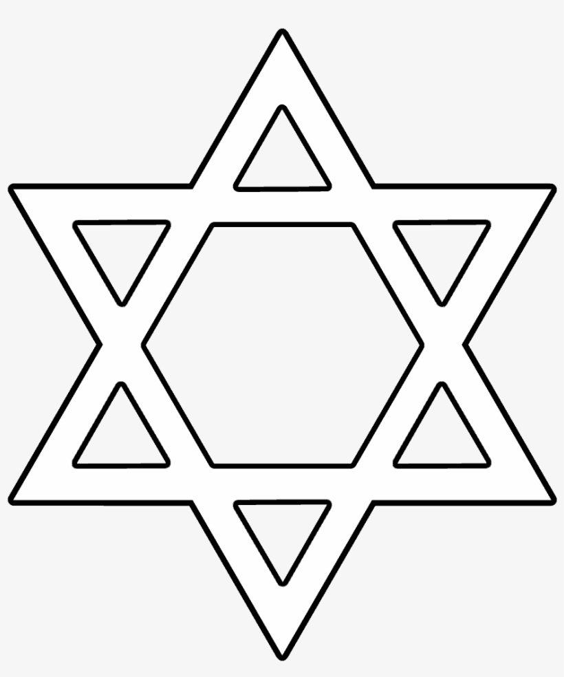Magen David Png, Jewish Star Png Image With Transparent - Star Of - Star Of David Template Free Printable