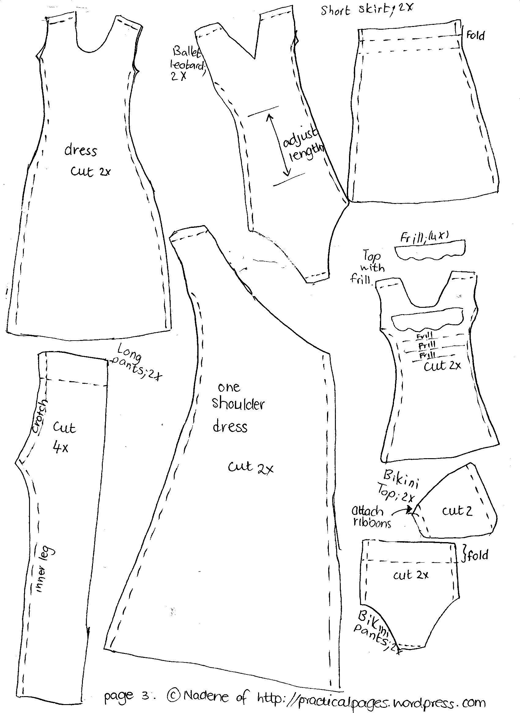 Make A Rag Doll Family | Vicki | Barbie Sewing Patterns, Barbie - Barbie Dress Patterns Free Printable Pdf