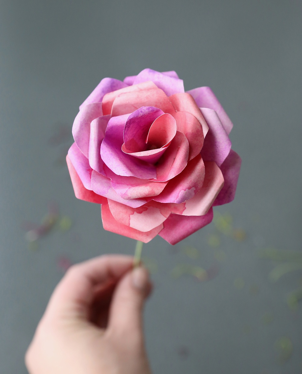 Make Gorgeous Paper Roses With This Free Paper Rose Template - It's - Free Paper Flower Templates Printable