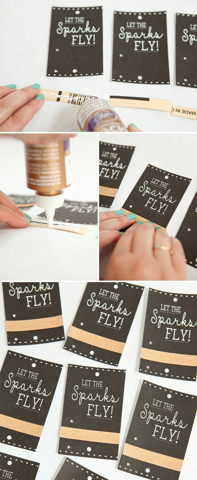 Make These Adorable Wedding Sparkler Tags + Sign For Free! - Free Printable Wedding Sparkler Sign