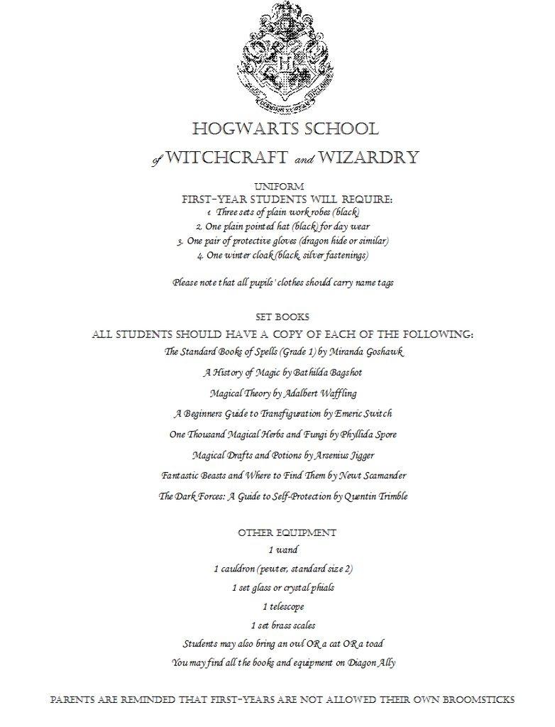 Make Your Own Hogwarts Acceptance Letter - Hogwarts Acceptance Letter Template Free Printable