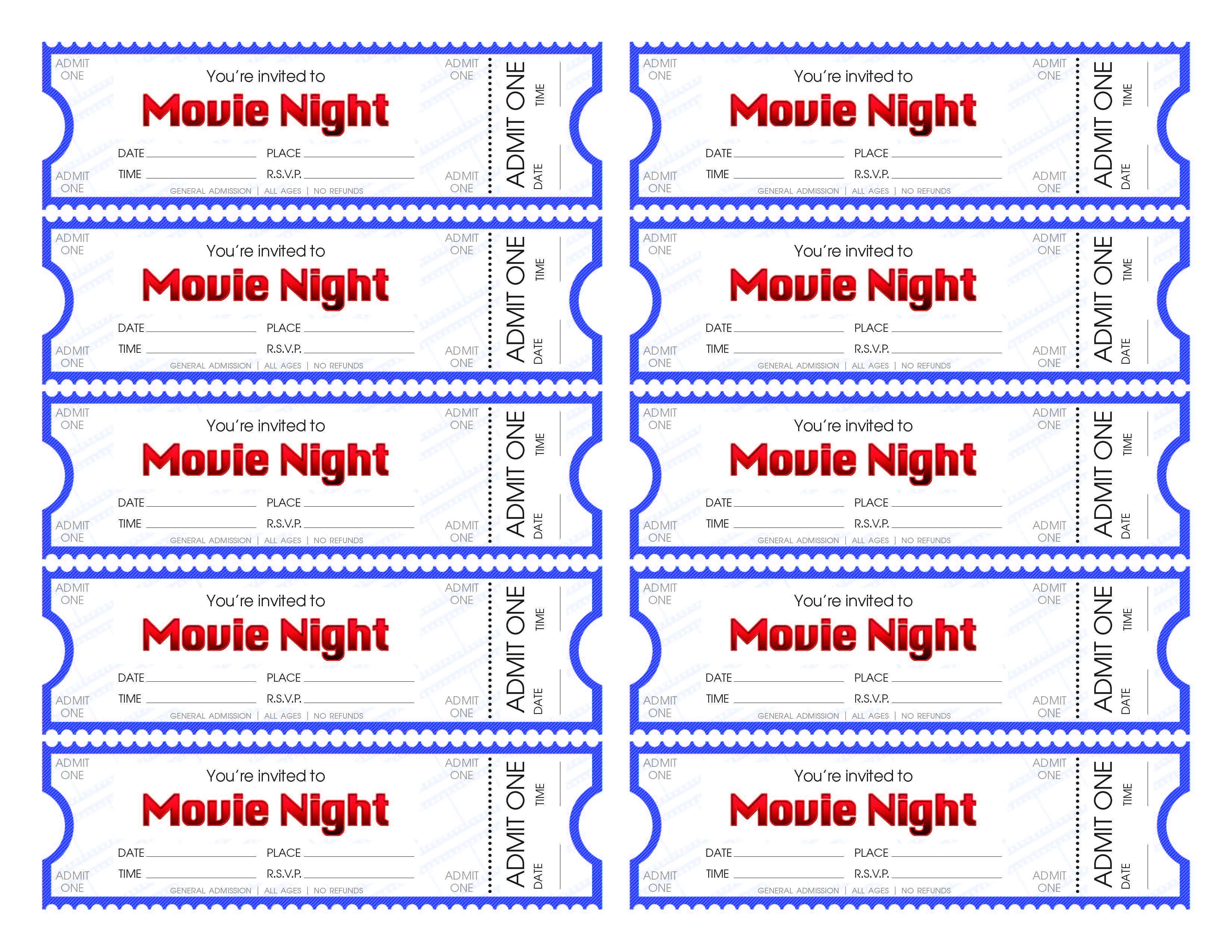 Make Your Own Movie Night Tickets – Sheknows - Make Your Own Tickets Free Printable