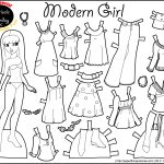 Marisole Monday: Modern Girl In Black & White | Coloring Pages   Free Printable Paper Dolls