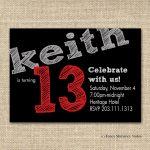 Marvellous Free Printable 13Th Birthday Boy Invitations Especially   13Th Birthday Party Invitations Printable Free