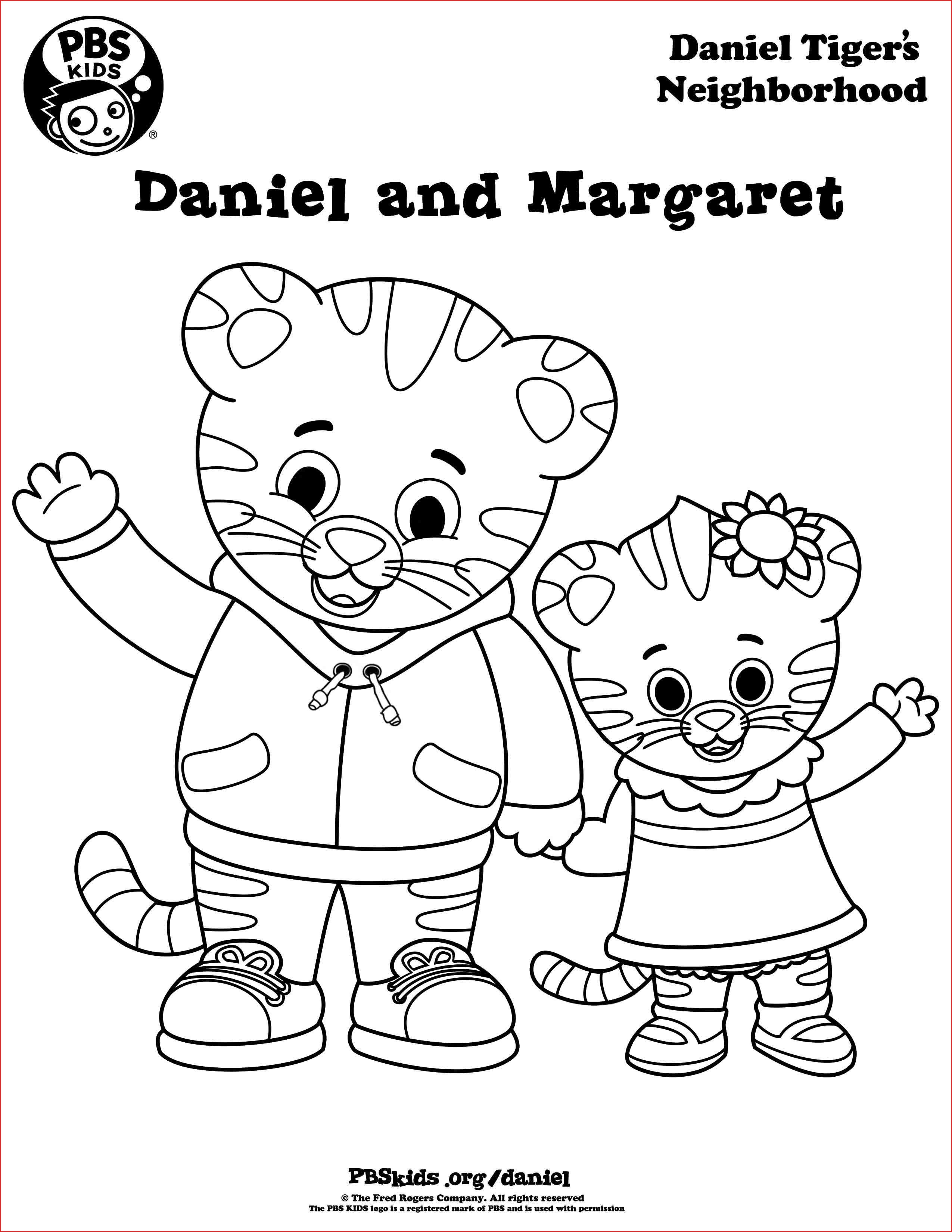 Marvelous Daniel Tiger Coloring Pages Pics Of Coloring Pages For - Free Printable Daniel Tiger Coloring Pages