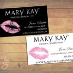 Mary Kay Business Cards Printable Lips Pink Custom | Etsy   Free Printable Mary Kay Business Cards
