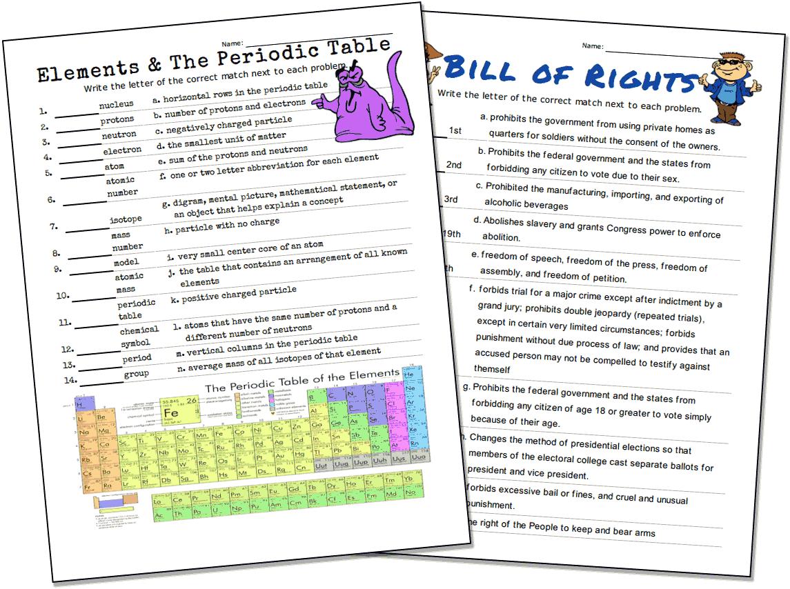 Match-Up Worksheet Maker - Make Your Own Worksheets Free Printable