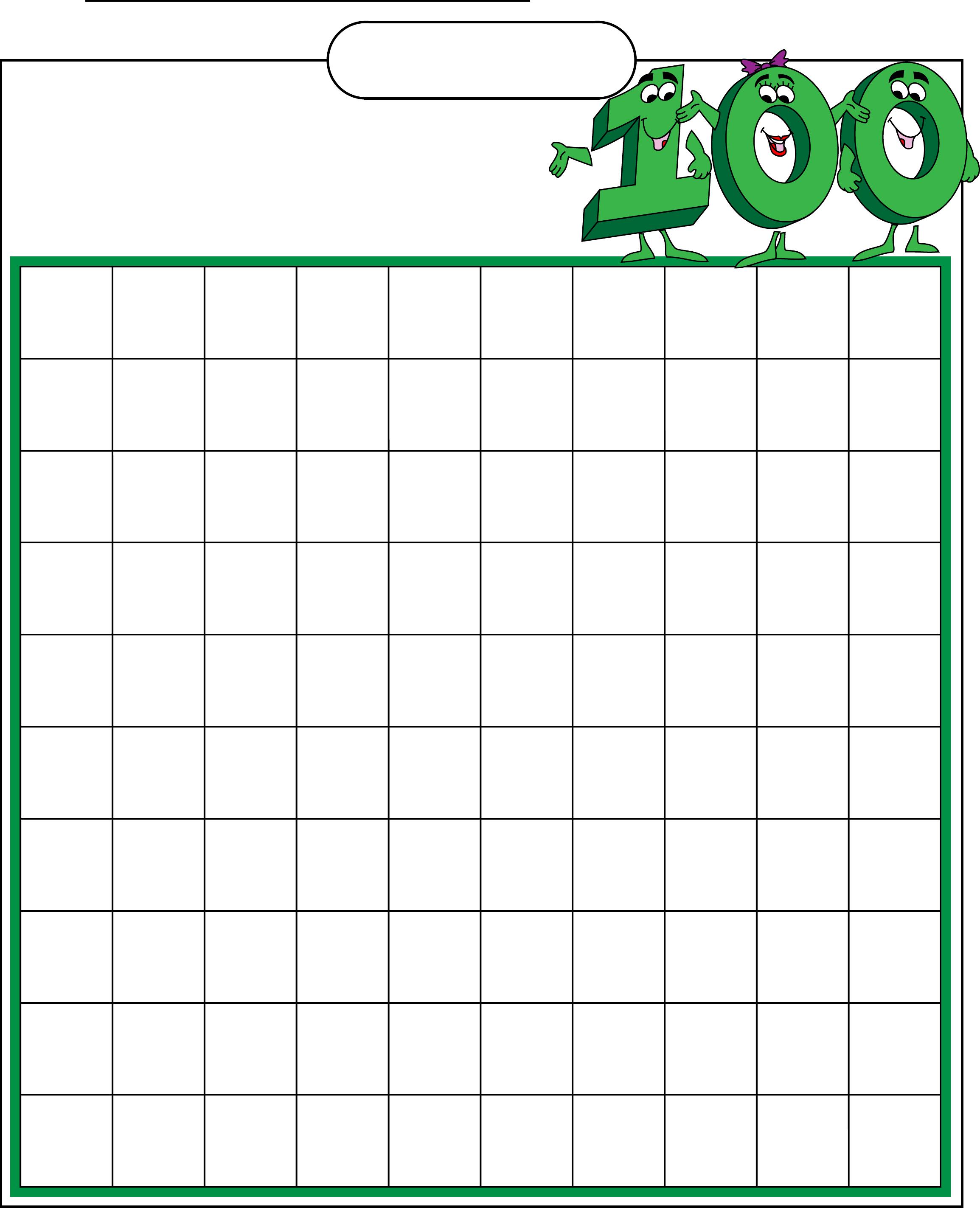 Math : Blank Hundreds Chart Blank Hundreds Chart To 50. Blank - Free Printable Hundreds Chart To 120