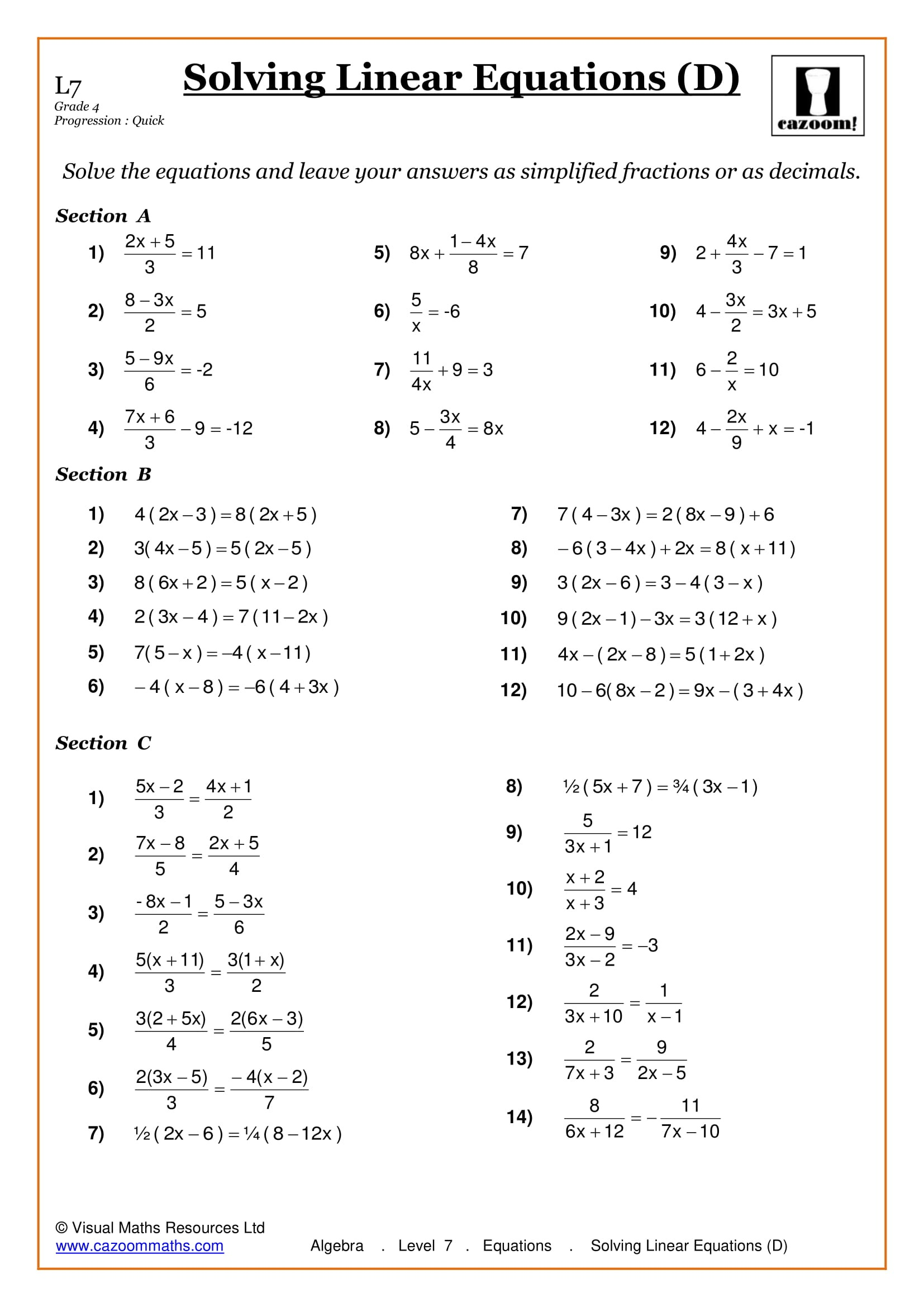 Maths Worksheets | Ks3 & Ks4 Printable Pdf Worksheets - Free Printable Maths Worksheets Ks1