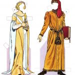 Medieval Costumes (1200 1350) | Gabi's Paper Dolls   Medieval Paper Dolls Free Printable