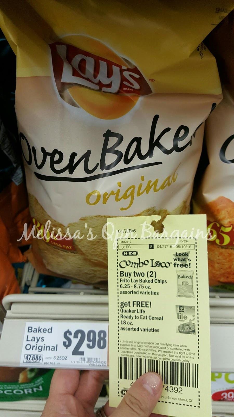 Melissa's Coupon Bargains: Heb~ Frito Lay Baked Chips 6-8Oz. $1.99Ea. - Free Printable Frito Lay Coupons
