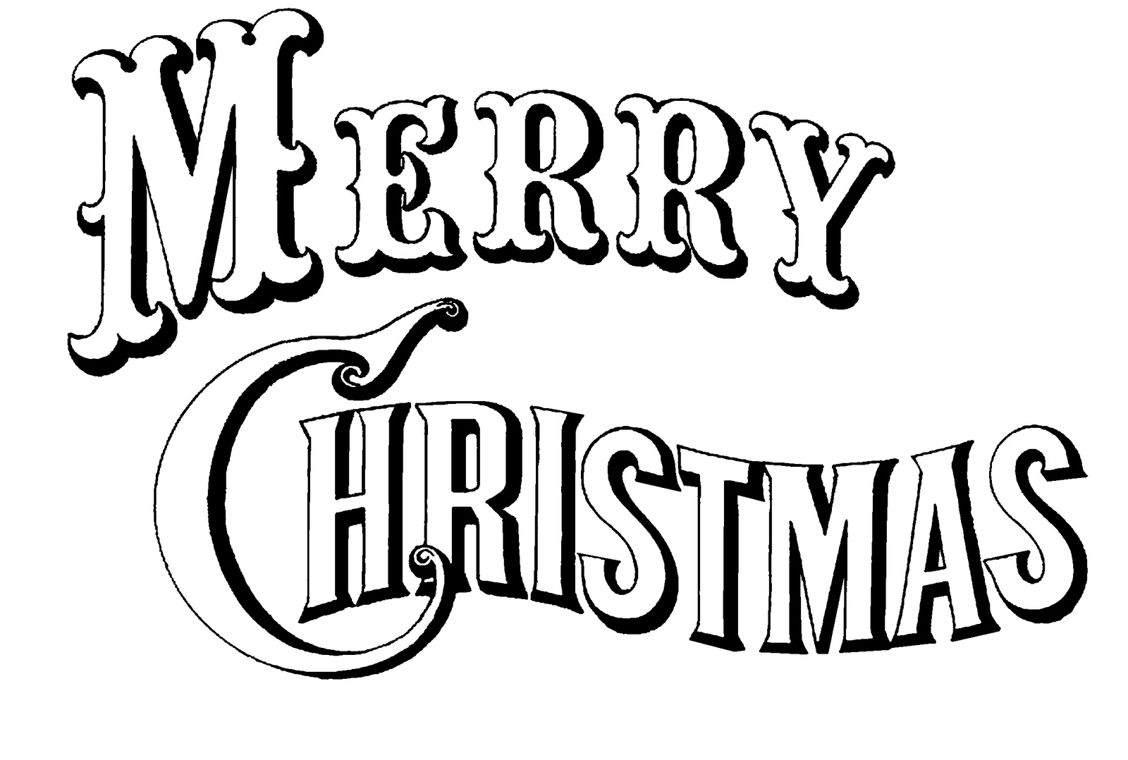 Merry Christmas Coloring Pages To Print - Free Printable Calendar - Merry Christmas Stencil Free Printable