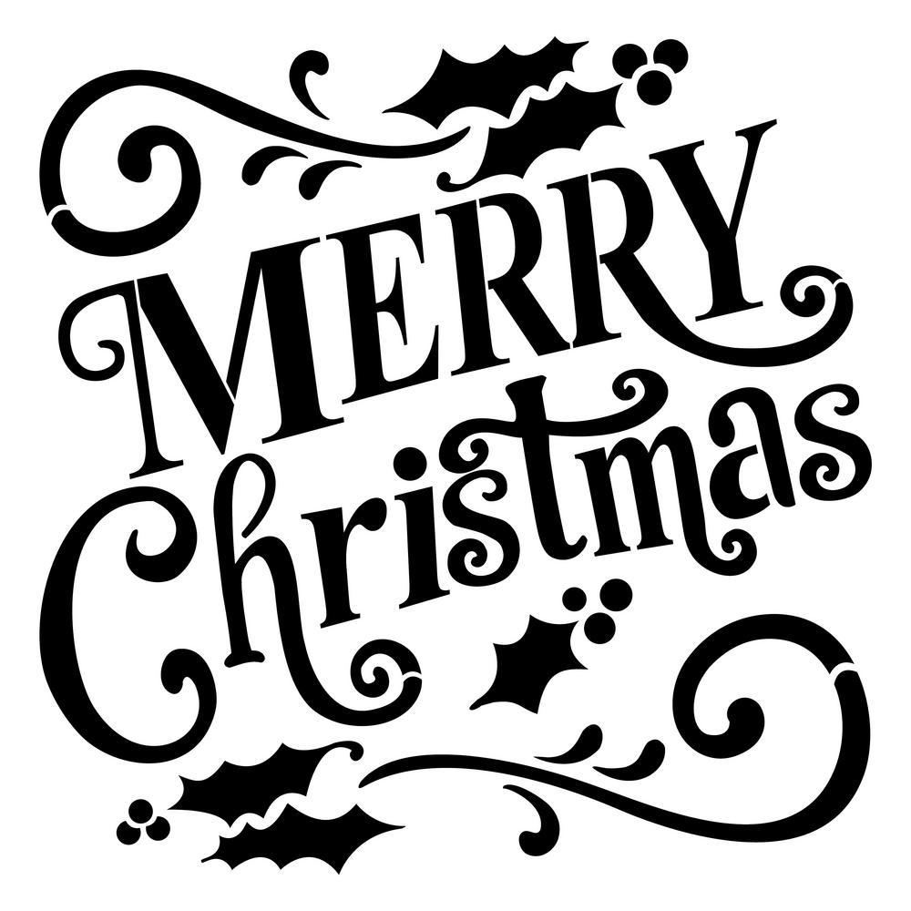 Merry Christmas Stencil For Cakes Free Printable Eh3. Merry - Merry Christmas Stencil Free Printable