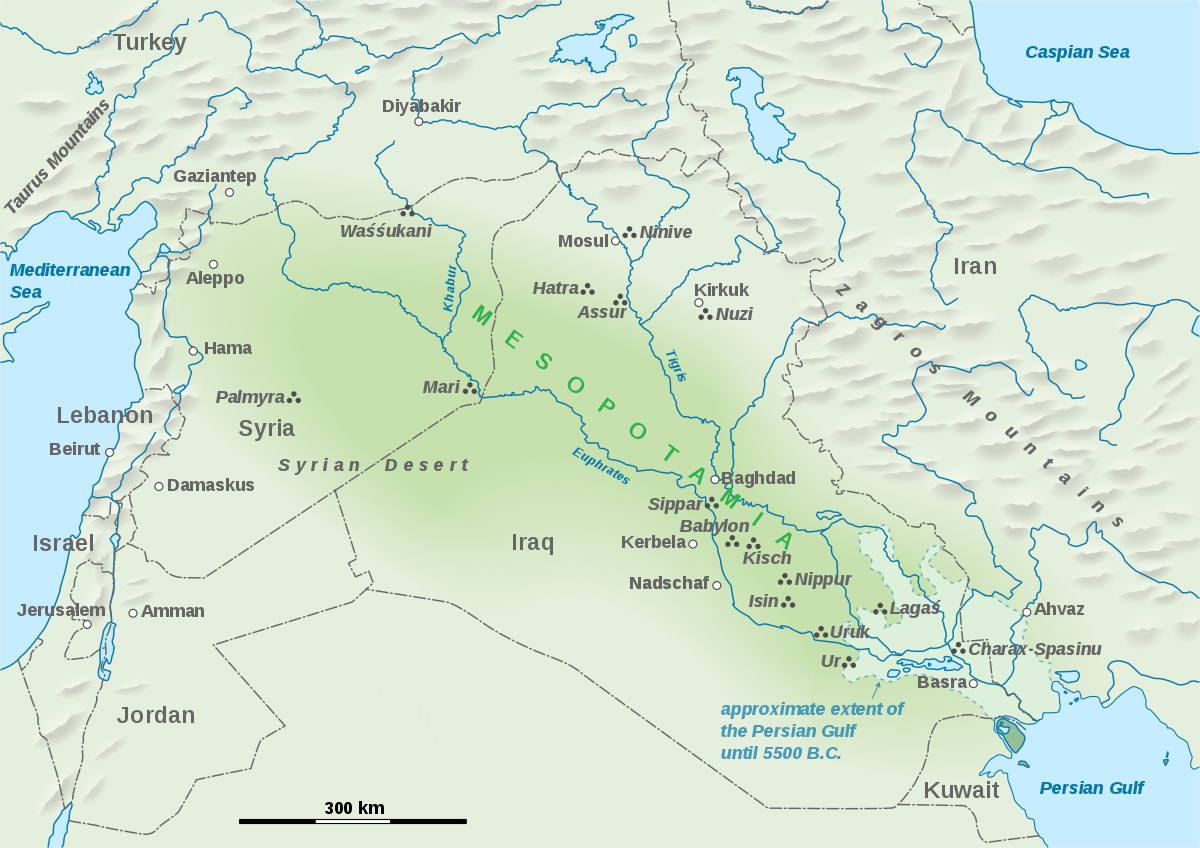 Mesopotamia - Wikipedia - Free Printable Map Of Mesopotamia