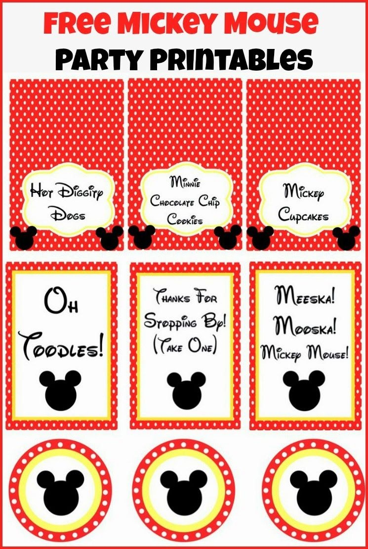 Mickey Mouse Clubhouse Party Ideas And Free Party Printables - Free Printable Mickey Mouse Decorations