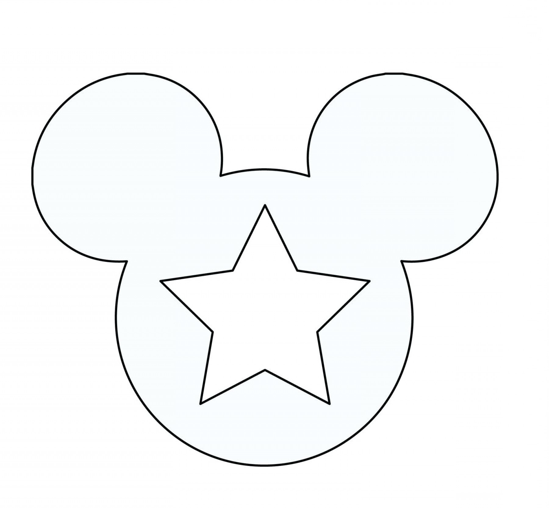 Mickey Mouse Ears Printable Coloring Pages Ghost Free Outline Large - Free Printable Mickey Mouse Head