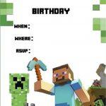 Minecraft Invite | Minecraft Party | Minecraft Invitations   Free Printable Minecraft Birthday Party Invitations Templates