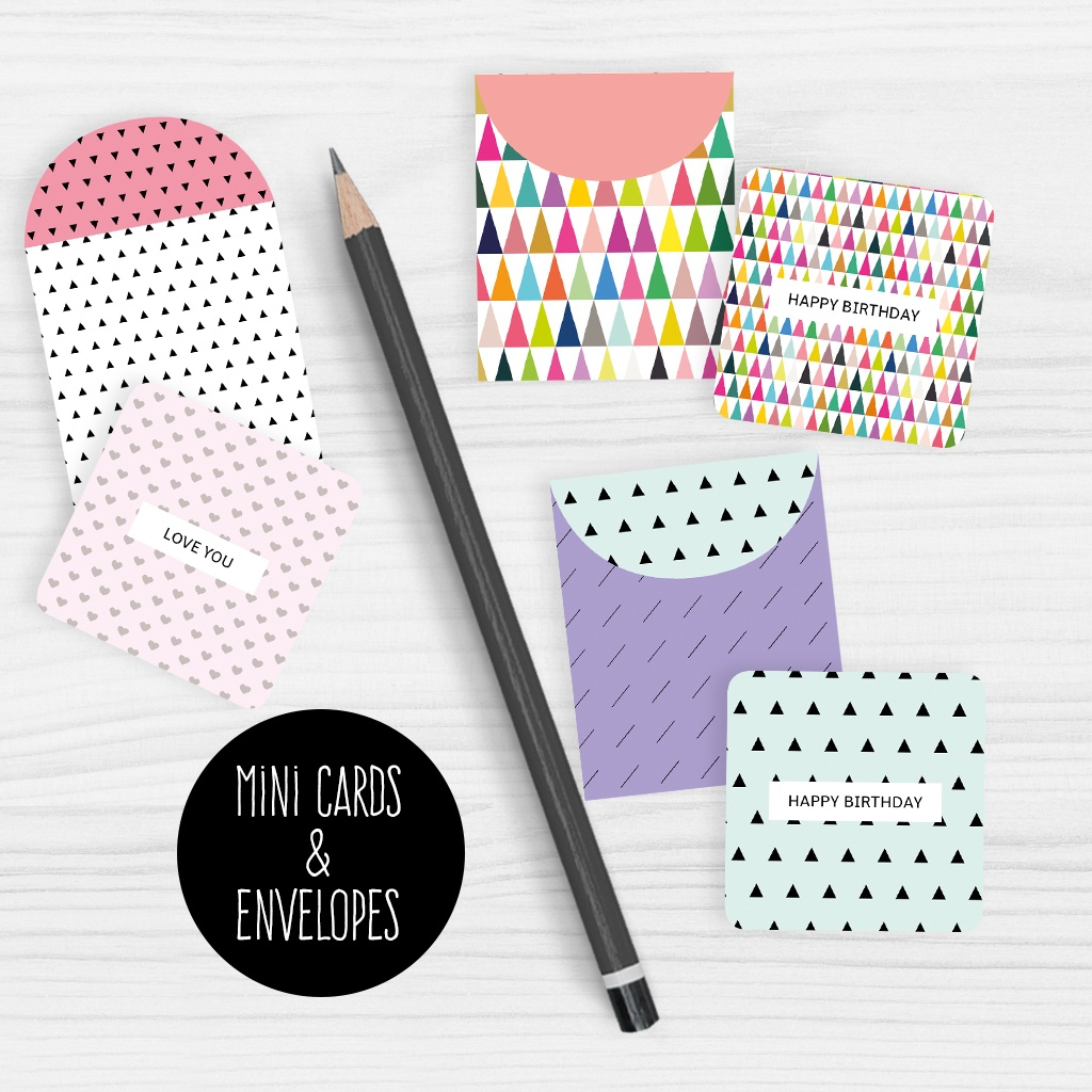 Mini Note Cards And Envelopes Set Of 9 Mini Cards - Free Printable - Free Printable Note Cards