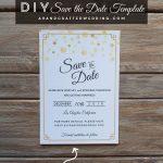 Modern Diy Save The Date Free Printable | | Free Wedding Printables   Free Printable Save The Date Invitation Templates