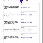 Money Word Problems   Free Printable Making Change Worksheets