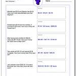 Money Word Problems   Free Printable Money Word Problems Worksheets