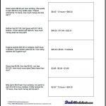 Money Word Problems! Mixed Operation Money Word Problems With Extra   Free Printable Money Word Problems Worksheets