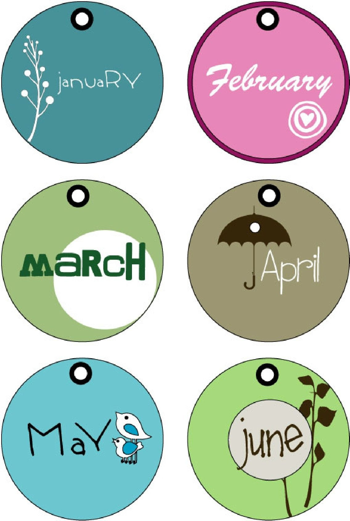 Months Of The Year Tags (Printable) | Random Printables | Month - Free Printable Months Of The Year Labels