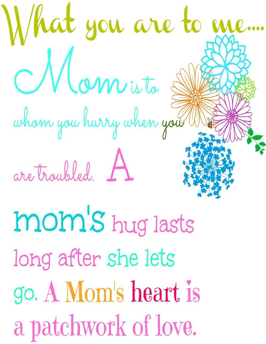 Mothers Day Free Printable | Mothers Day | Mother's Day Printables - Free Printable Mothers Day Poems