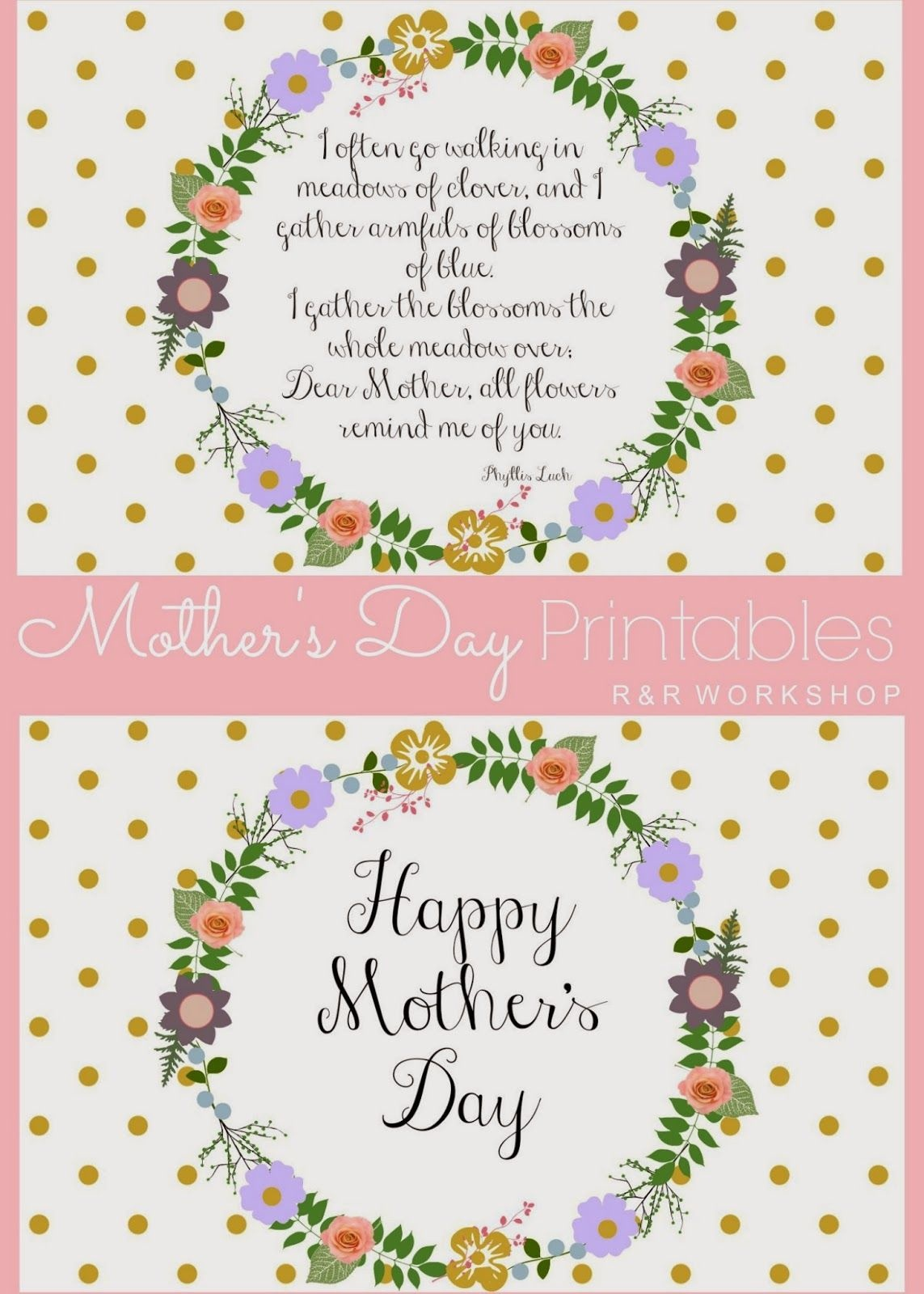 Mother's Day Poem And Free Printables | Live It. Love It. Lds - Free Printable Mothers Day Poems