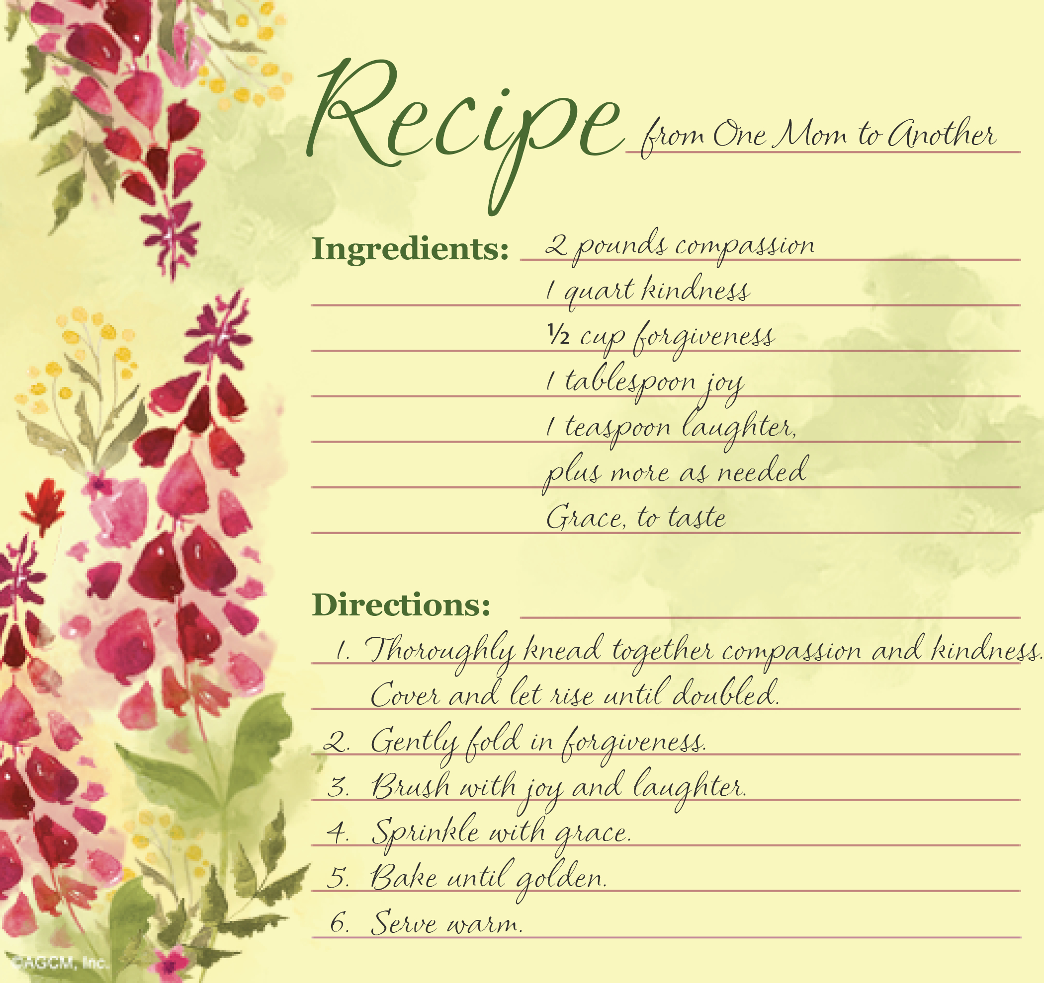 Mother's Day Recipe Poem Archives - Blue Mountain Blog - Free Printable Mothers Day Cards Blue Mountain