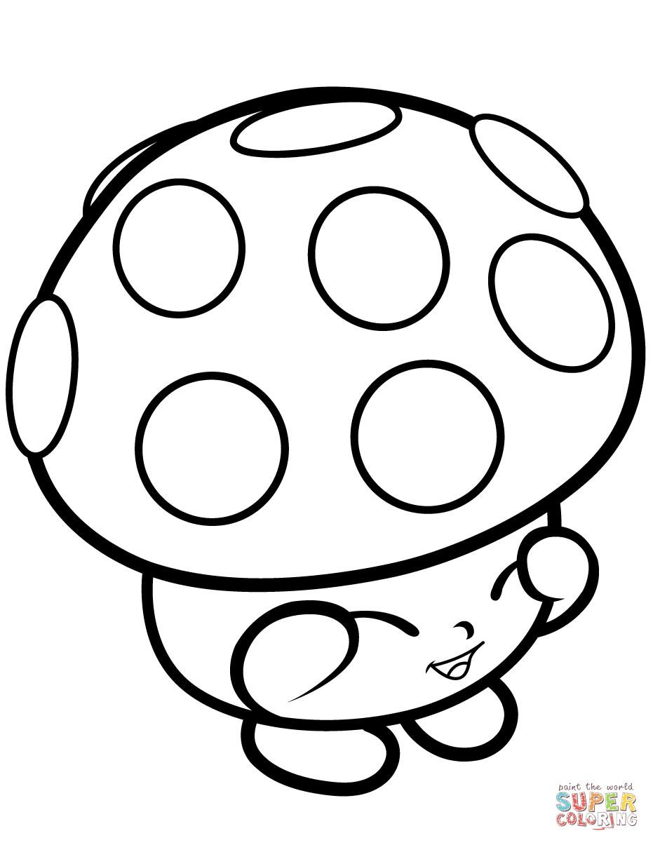 Mushroom Miss Mushy Moo Shopkin Coloring Page | Free Printable - Free Printable Mushroom Coloring Pages