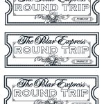 My Take On The Polar Express Tickets. We Printed Them On Gold Paper   Free Polar Express Printable Tickets