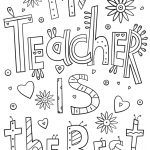 My Teacher Is The Best Doodle Coloring Page From Teacher   Free Printable Teacher Appreciation Cards To Color