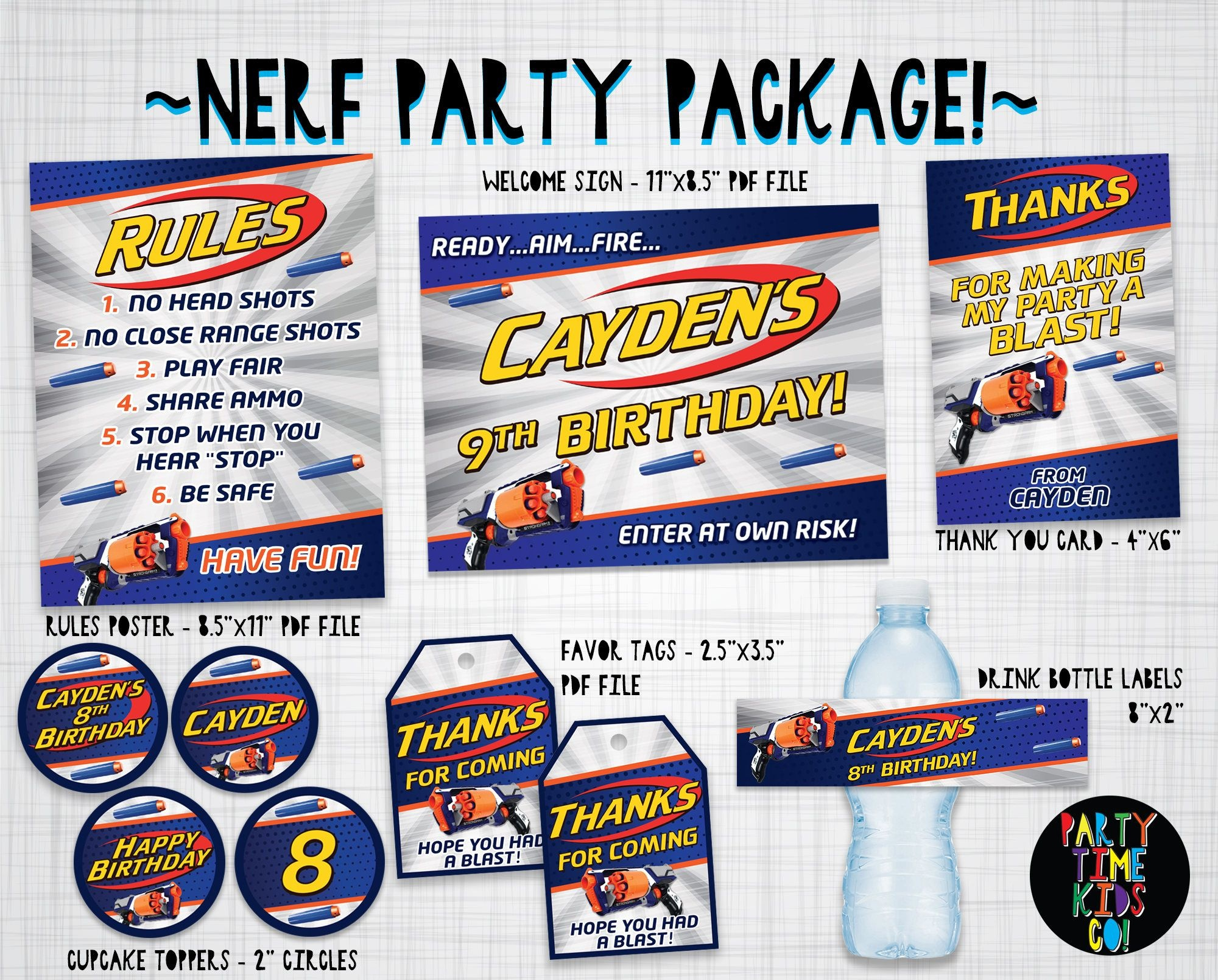 Nerf Party Printables Nerf Print Kit Printable Package Decoration - Free Printable Nerf Logo