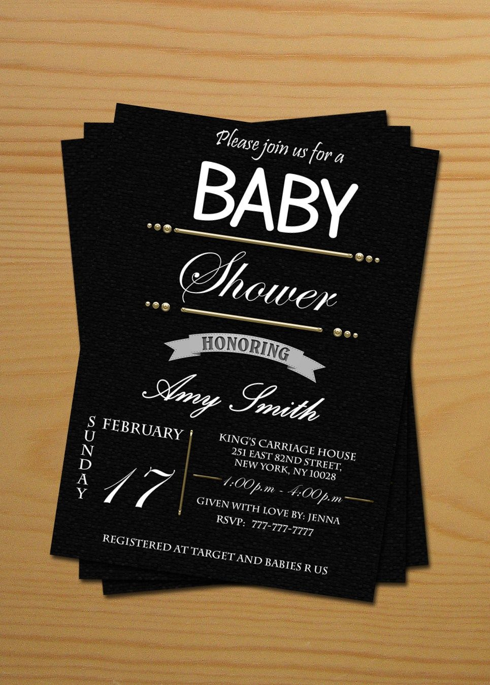 Neutral Baby Shower Invitations - Free Thank You Cards, Printable - Free Printable Black And White Baby Shower Invitations