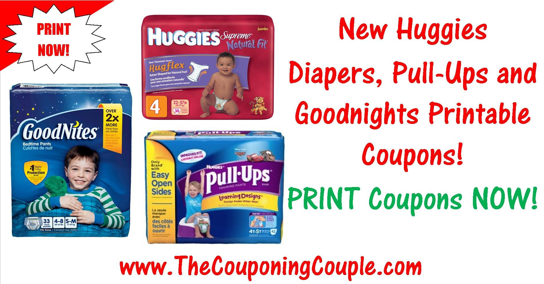 New Huggies Diapers, Pull-Ups, And Goodnites Printable Coupons! - Free Printable Coupons For Huggies Pull Ups