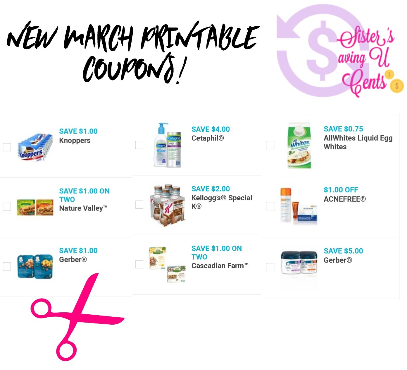 New March Printables Coupons!! - Acne Free Coupons Printable