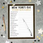 New Year's Eve Word Scramble Printable   Happiness Is Homemade   Unscramble Word Games Printable Free