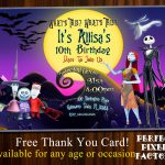 Nightmare Before Christmashalloween Invitationjack   Etsy   Free Printable Nightmare Before Christmas Birthday Invitations