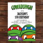 Ninja Turtle Birthday Invitation   Free Printable Ninja Turtle Birthday Banner