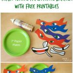 Ninja Turtle Paper Plate Banner With Free Printables | Party Ideas   Free Printable Ninja Turtle Birthday Banner