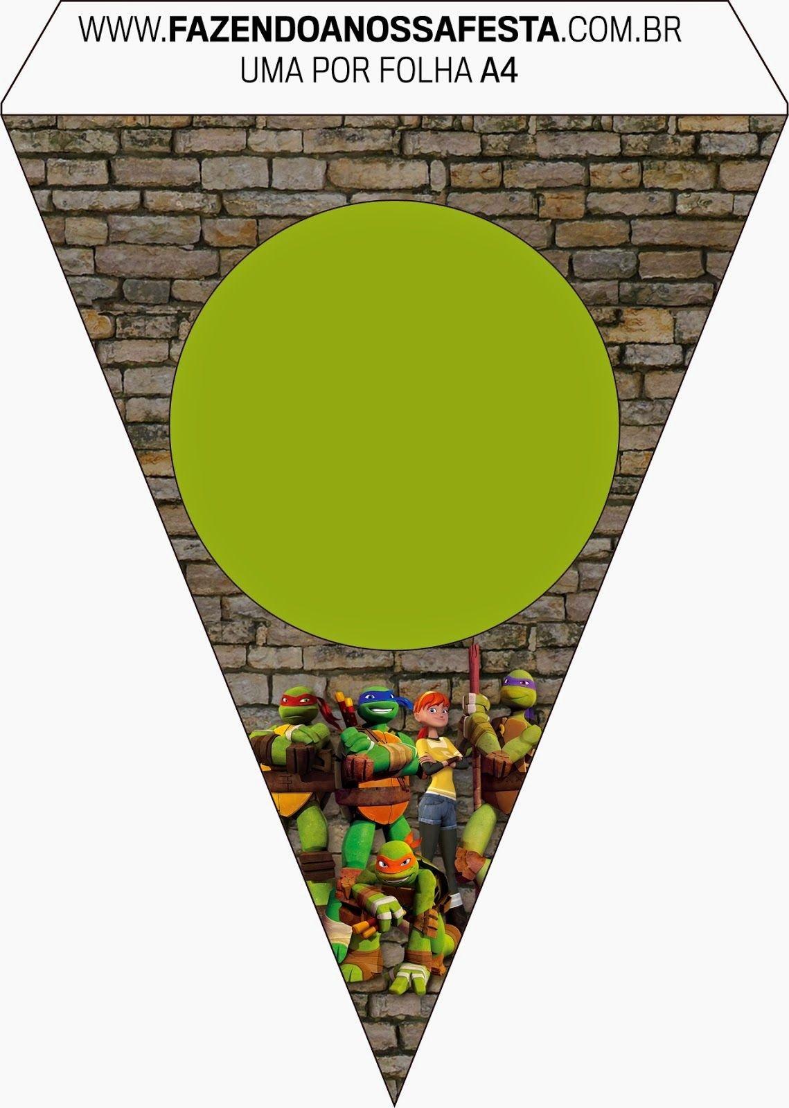 Ninja Turtles Free Party Printables And Invitations. | Event - Free Printable Ninja Turtle Birthday Banner