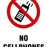 No Mobile Phone Signs | Poster Template   Free Printable No Entry Sign