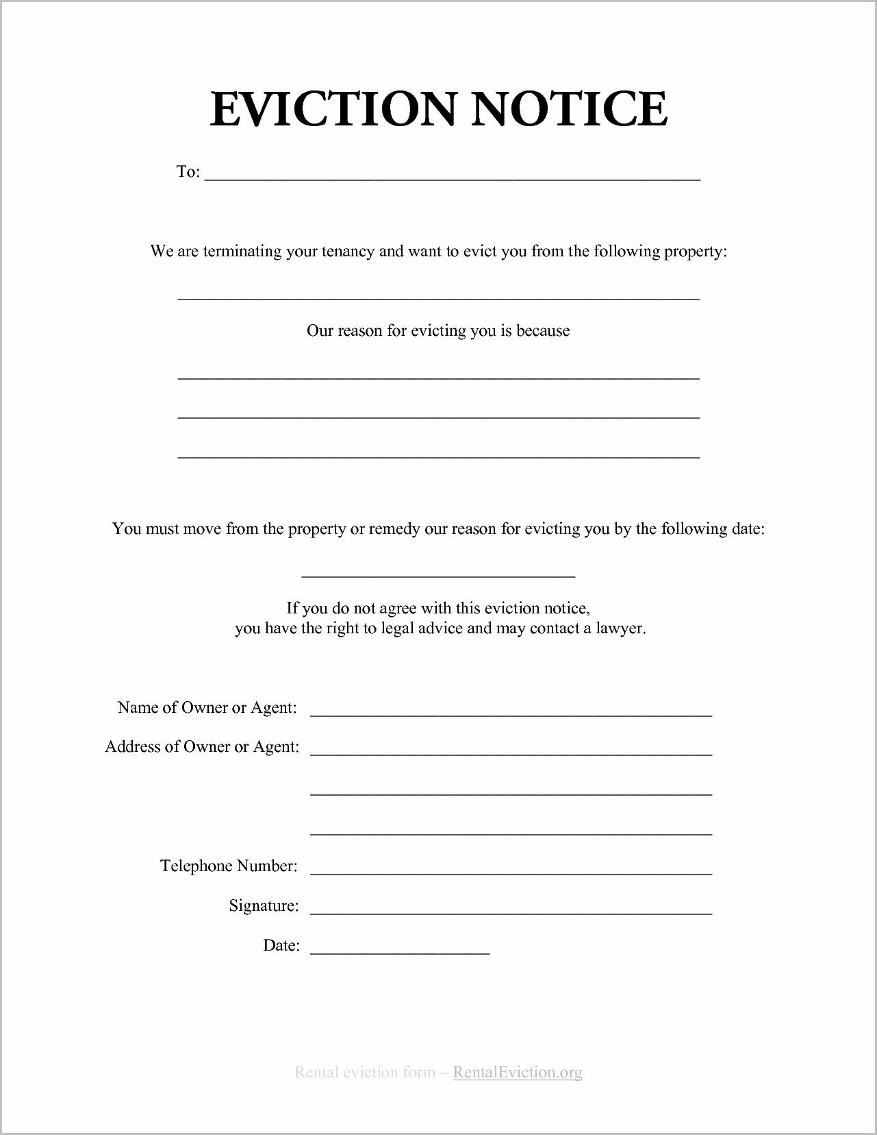 Notice Of Eviction Form Ontario | Forms | Eviction Notice, Resume - Free Printable Blank Eviction Notice