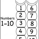 Number Chart – 1 10 / Free Printable Worksheets – Worksheetfun   Free Printable Numbers 1 10