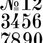 Number Stencils | Crafts | Number Stencils, Letter Stencils, Number   Free Printable 4 Inch Number Stencils