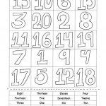 Numbers 1 20 Worksheet   Free Esl Printable Worksheets Madeteachers   Free Printable Numbers 1 20 Worksheets