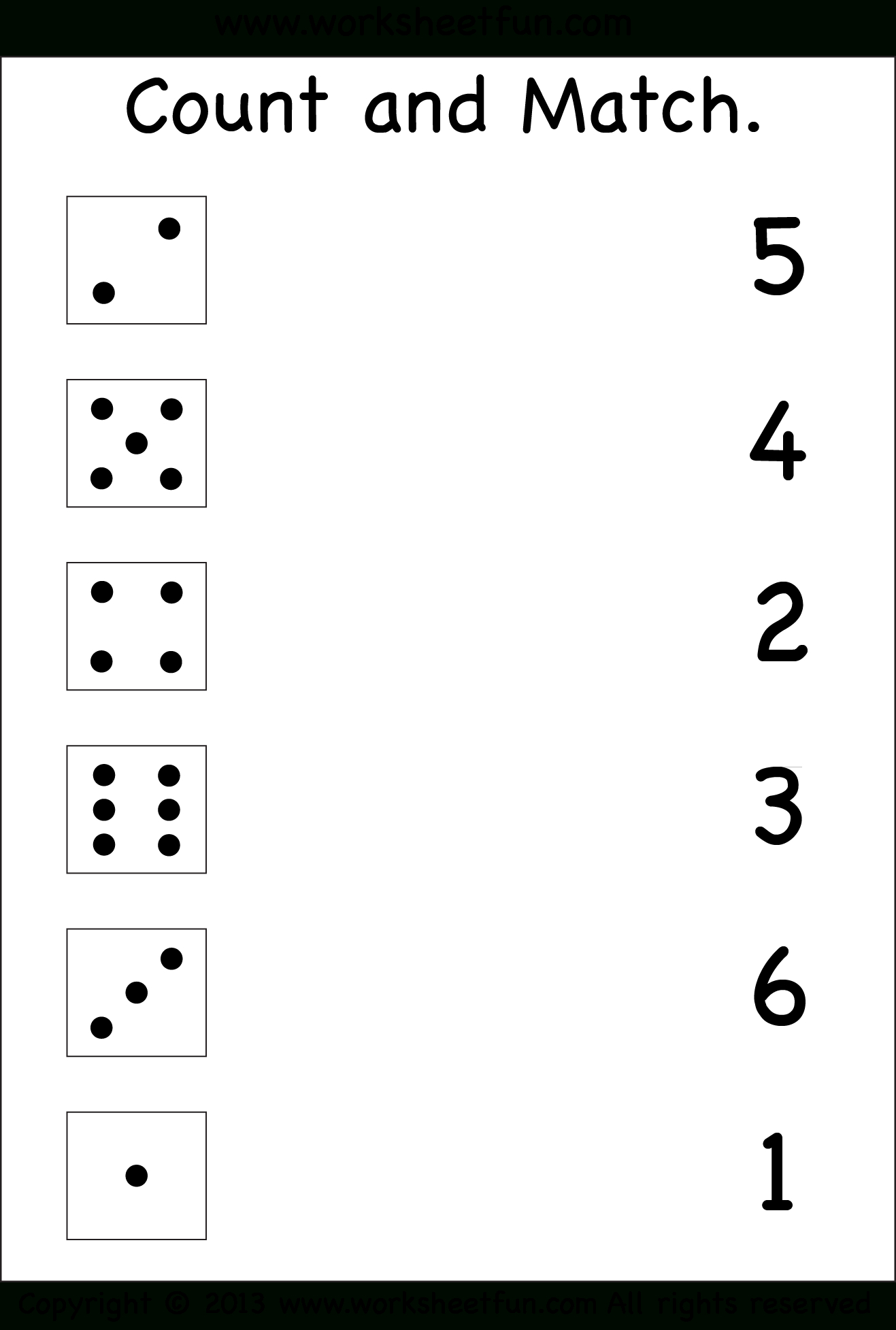 Numbers – Count And Match / Free Printable Worksheets – Worksheetfun - Free Printable Worksheets For 3 Year Olds